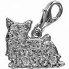COCKER  SPANIEL CLEAR CRYSTAL CHARM FOR BAGS PHONES JEWELLERY ETC